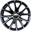 18/19-inch Venom polished aluminum wheels with Hyper Black painted pockets