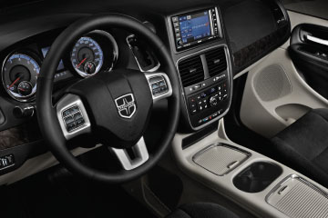 The 2017 Dodge Grand Caravan Canada offers a customizable display using its Electronic Vehicle Information Centre (EVIC)