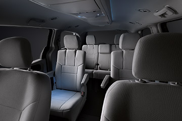 Ambient and targeted lighting of the 2017 Dodge Grand Caravan allows passengers to read, write or play without disturbing the driver